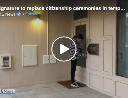 RTE News: Signature to replace citizenship ceremonies in temporary scheme